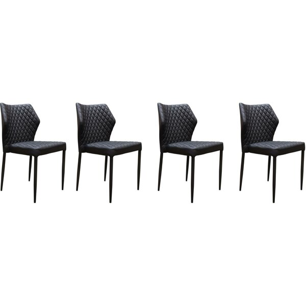 Katya Diamond Tufted Upholstered Dining Chair (Set of 4) by Orren Ellis