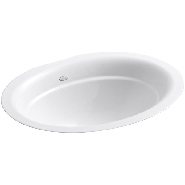 Serif Metal Oval Undermount Bathroom Sink by Kohler