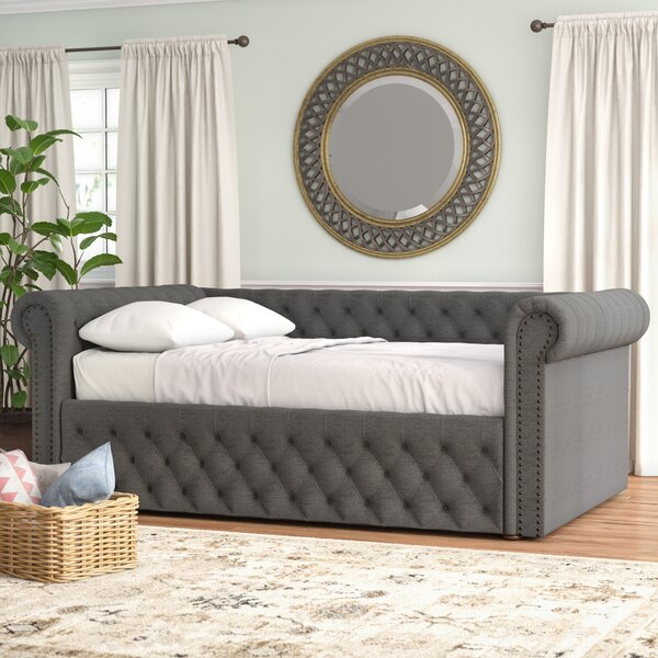 Hinsdale Full Linen Daybed by Three Posts