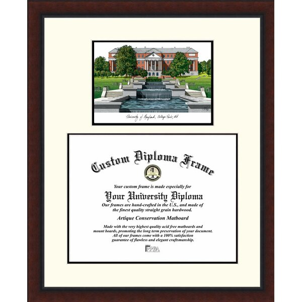 NCAA Maryland University Legacy Scholar Diploma Picture Frame by Campus Images