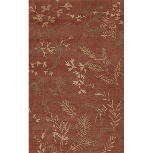 Howland Red Floral Area Rug by Bay Isle Home
