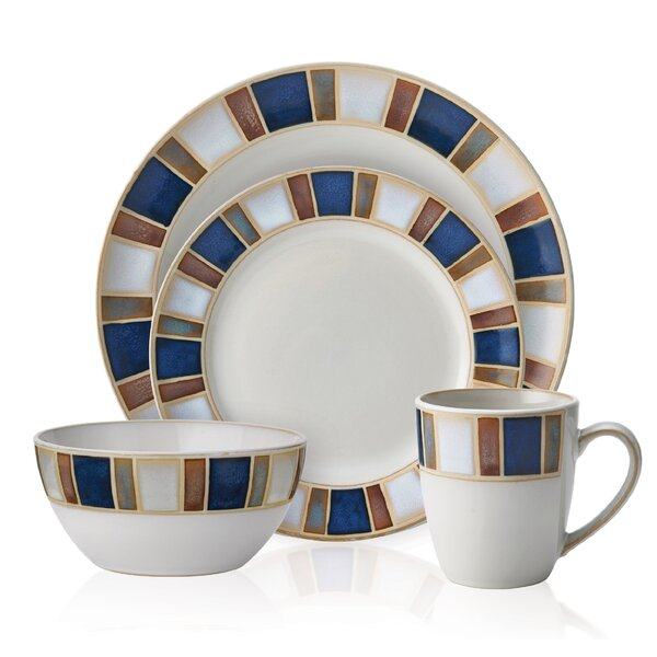 Riviera 16 Piece Dinnerware Set, Service for 4 by Pfaltzgraff Everyday