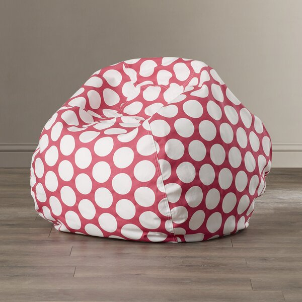 Telly Polka Dot Bean Bag Chair by Viv + Rae
