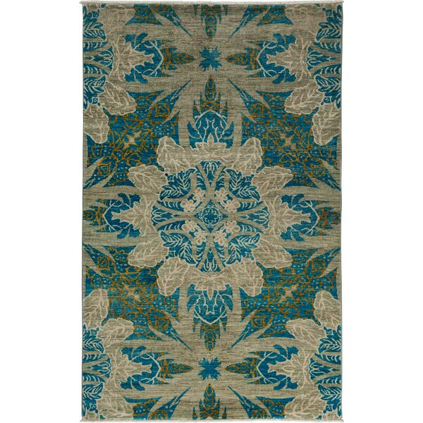One-of-a-Kind Ziegler Hand-Knotted Gray / Blue Area Rug by Darya Rugs