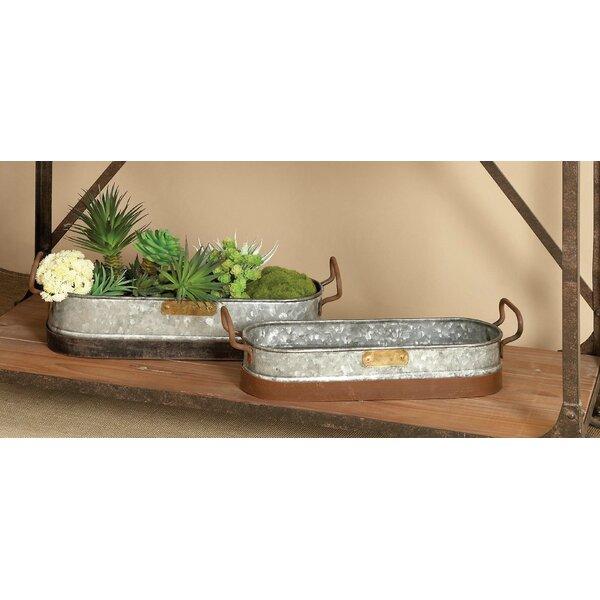 2-Piece Metal Pot Planter Set by Cole & Grey