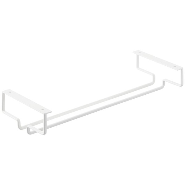 Crespo Plate Wall-Mounted Wine Glass Rack by Rebrilliant