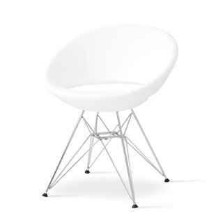 Crescent Side Chair in Leatherette-PPM - Bone by sohoConcept