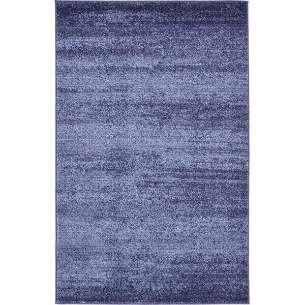 Barna Blue Area Rug by Wade Logan