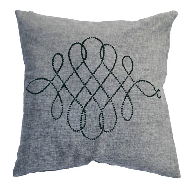 Rhinestone Swirl Throw Pillow by Sparkles Home