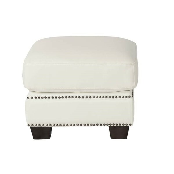 Marilyn Leather Ottoman by Lazzaro Leather