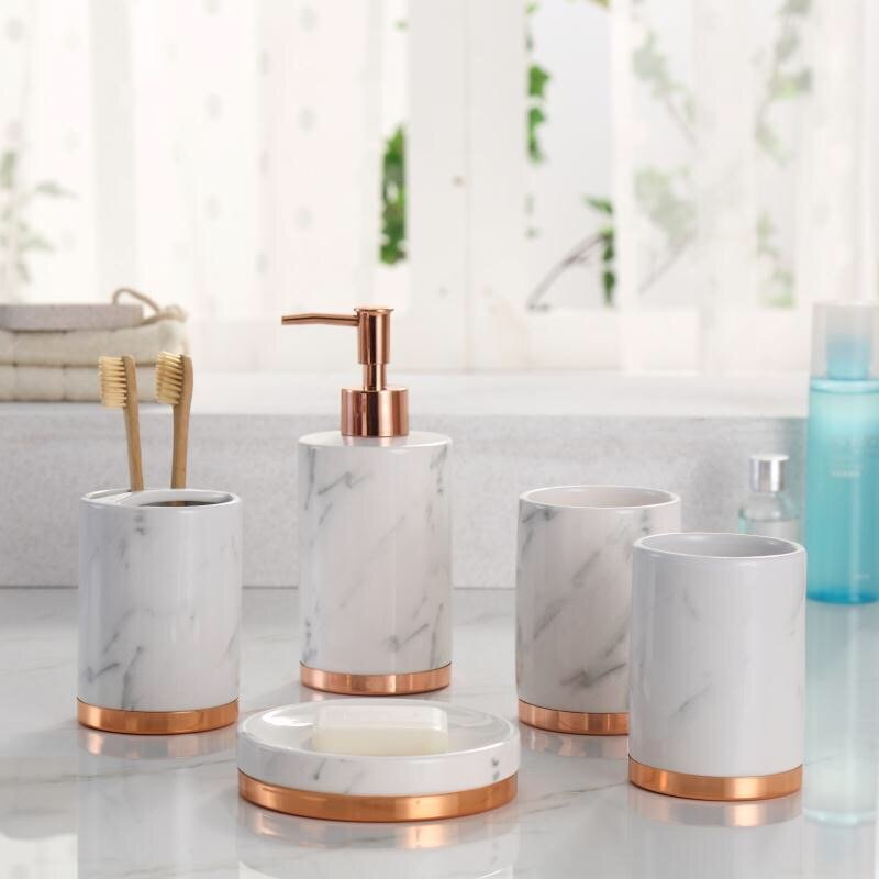 Erita Bathroom Accessory Set