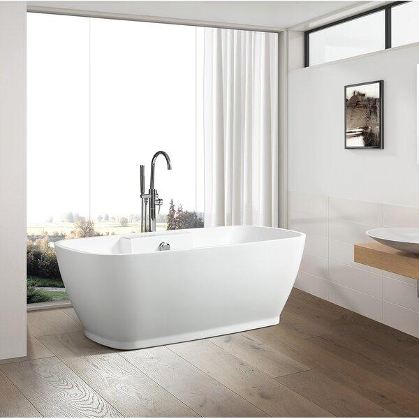 67 x 31 Freestanding Soaking Bathtub by Vanity Art