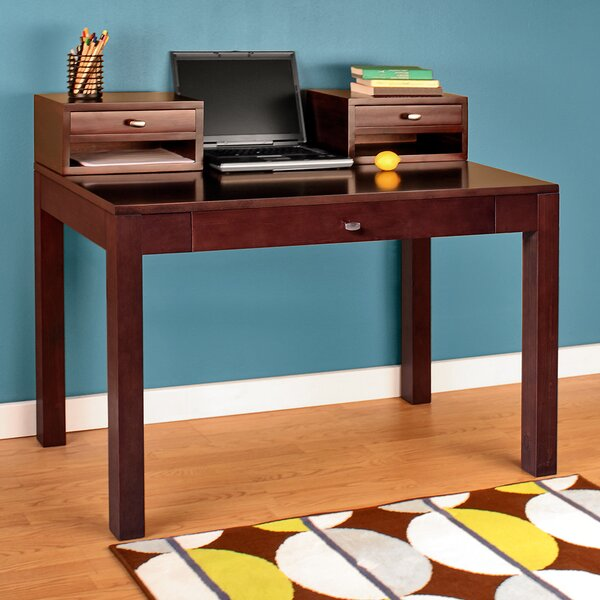 Erskine Writing Desk with Keyboard Tray by Latitude Run