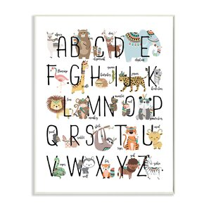 Boho Animal ABCs Wall Plaque by Stupell Industries