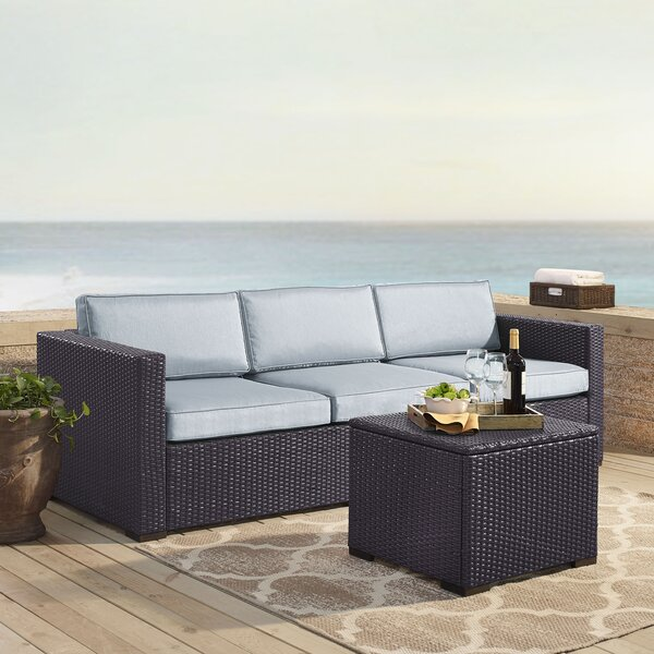 Seaton 3 Piece Sofa Seating Group With Cushions By Sol 72 Outdoor