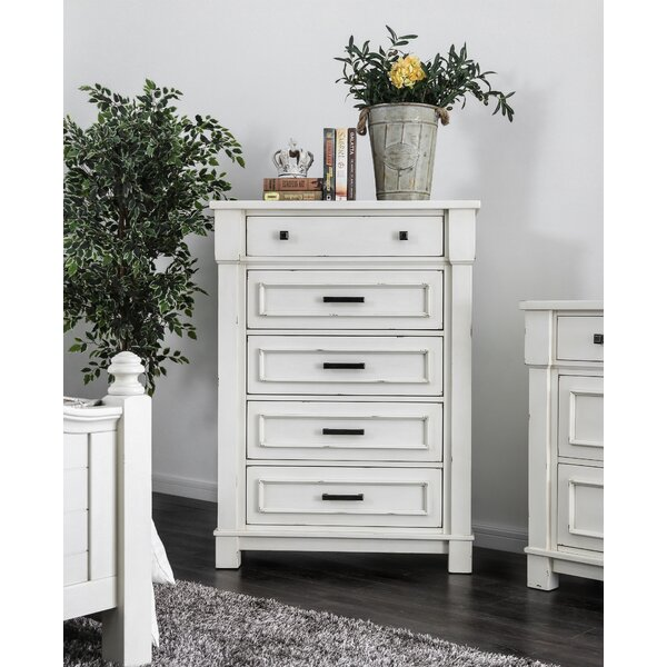 Bruno 5 Drawer Bachelors Chest By Longshore Tides by Longshore Tides Best Choices