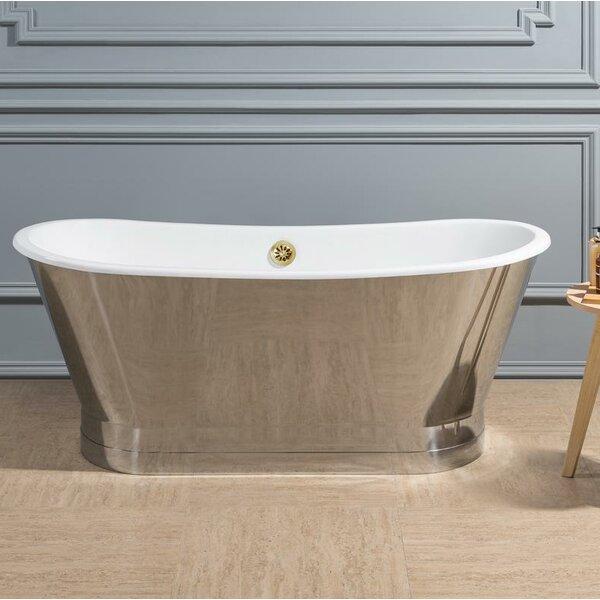 Cast Iron 67 x 27 Freestanding Soaking Bathtub by Streamline Bath