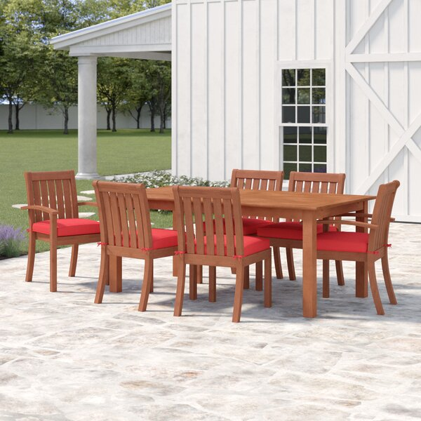 Rossi 7 Piece Dining Set with Cushions by Birch Lane™ Heritage