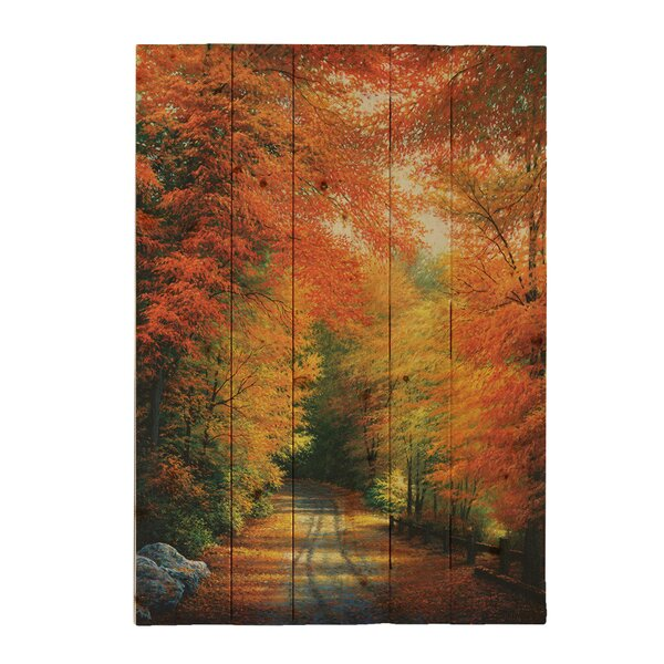 Autumn in New England by Charles White Photographic Print Plaque by Hadley House Co