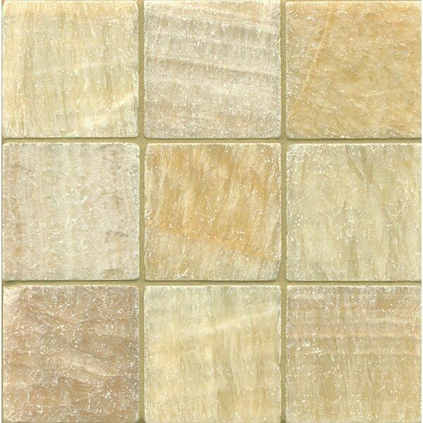 Onyx 4 x 4 Marble Field Tile in Sweet Honey