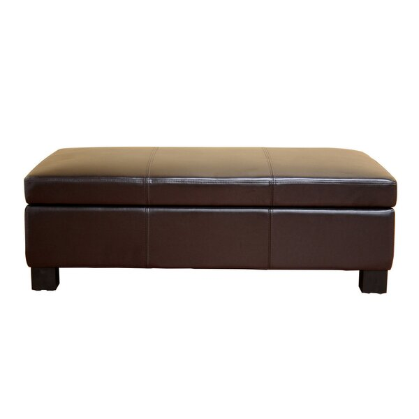 Camara Faux Leather Storage Bench by Winston Porter