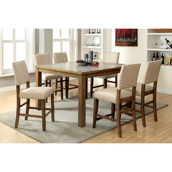 Crafton 7 Piece Pub Table Set (Set of 2) by Alcott Hill