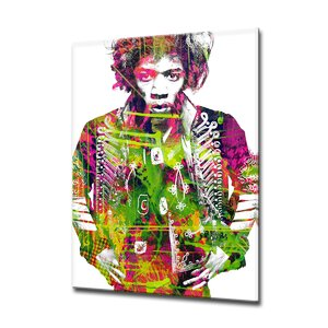 'Iconic Jimmy Hendrix' Graphic Art by Ready2hangart