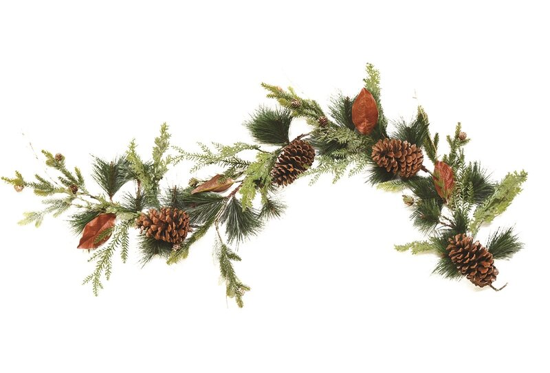 Decorative Mixed Pine Artificial Christmas Garland