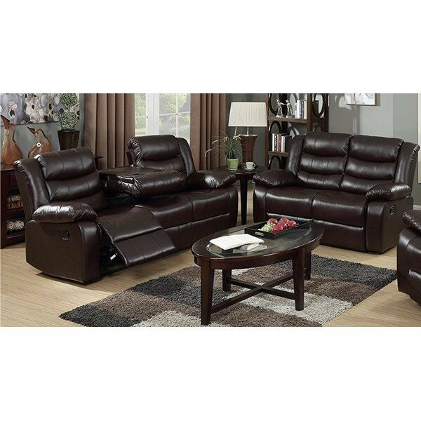 Morais 2 Piece Leather Reclining Living Room Set by Red Barrel Studio