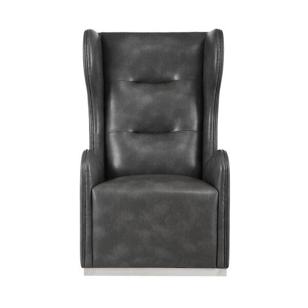 Club Franny Swivel Wingback Chair by Sunpan Modern