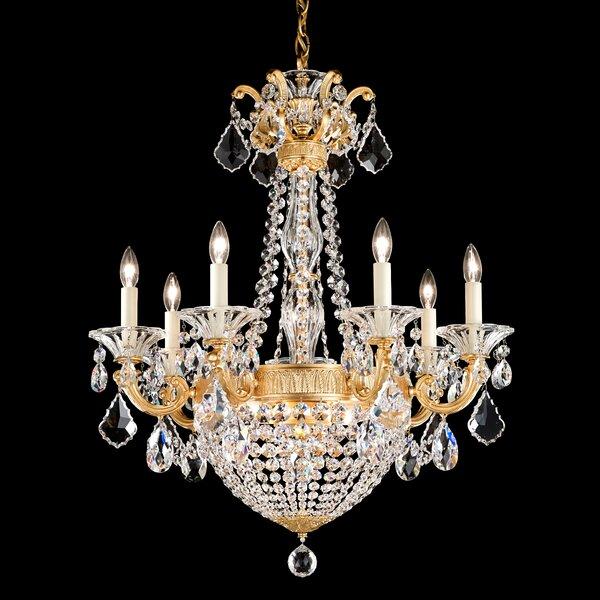 La Scala Empire 9-Light Candle Style Chandelier by Schonbek