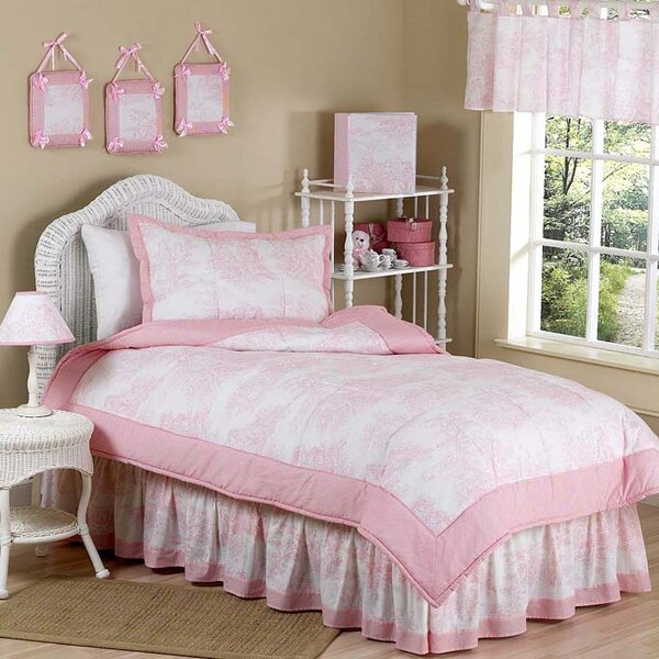 French Toile Kid Bedding Comforter Collection by Sweet Jojo Designs