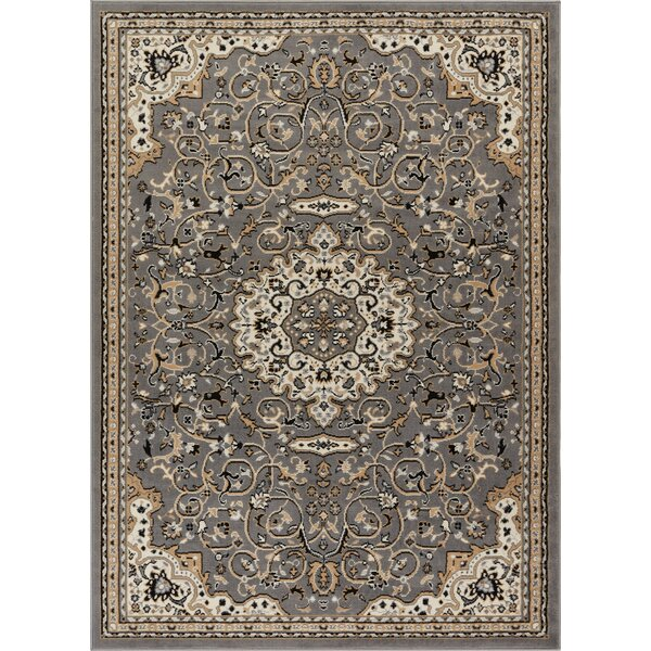 Persa Isfahan Medallion Gray Area Rug by Well Wove