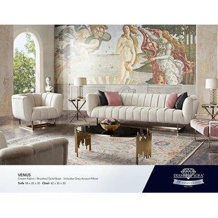 Venus Configurable Living Room Set by Diamond Sofa