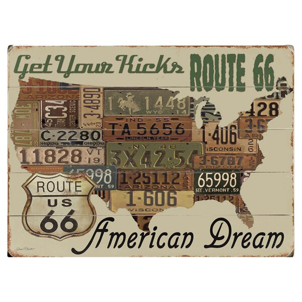 American Dream by Jean Plout Graphic Art Print Multi-Piece Image on Wood by Artehouse LLC