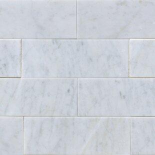 3 X 8 Marble Subway Tile In White Carrara