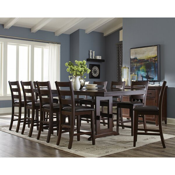 Richmond 11 Piece Counter Height Extendable Dining Set by Infini Furnishings Infini Furnishings