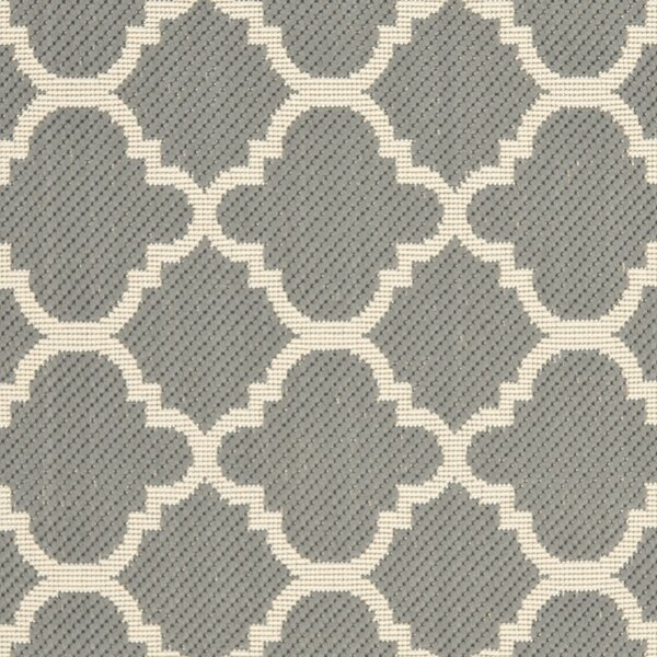 Short Anthracite & Beige Indoor/Outdoor Area Rug by Winston Porter