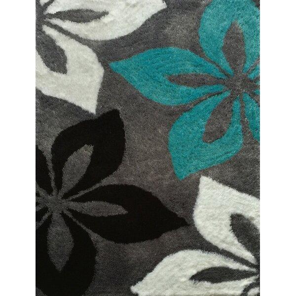 Crumpler Hand Woven Gray/Turquoise Area Rug by Brayden Studio