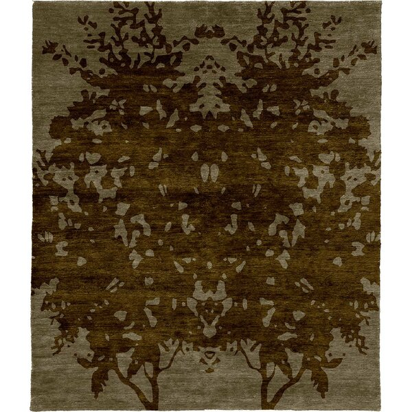 One-of-a-Kind Jann Hand-Knotted Tibetan Brown 8' Square Wool Area Rug