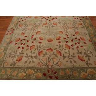 Kathleen Persian Transitional Hand-Tufted 8' x 10' Wool Gray/Rose/Rust Area Rug by Rosalind Wheeler