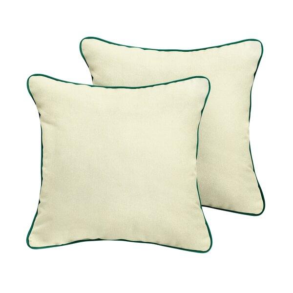 Sarasota Sunbrella Outdoor Throw Pillow (Set of 2) by Rosecliff Heights
