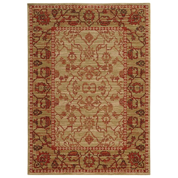 Tommy Bahama Vintage Beige / Red Oriental Rug by Tommy Bahama Home