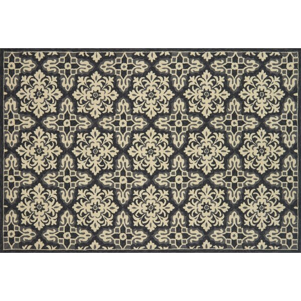 Duvig Hand-Hooked Ivory/Gray Area Rug by Charlton Home