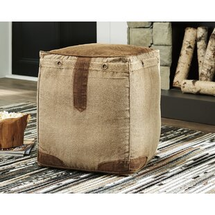 Reviews Wein Pouf Ottoman ByMillwood Pines