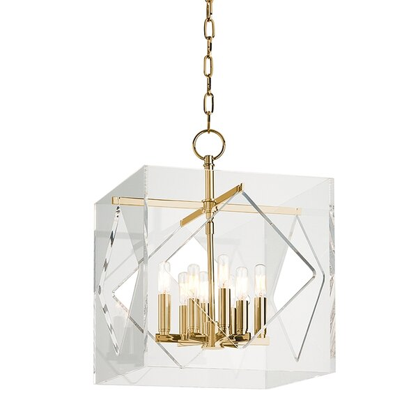 Rooker 8-Light Candle Style Rectangle / Square Chandelier By Willa Arlo Interiors