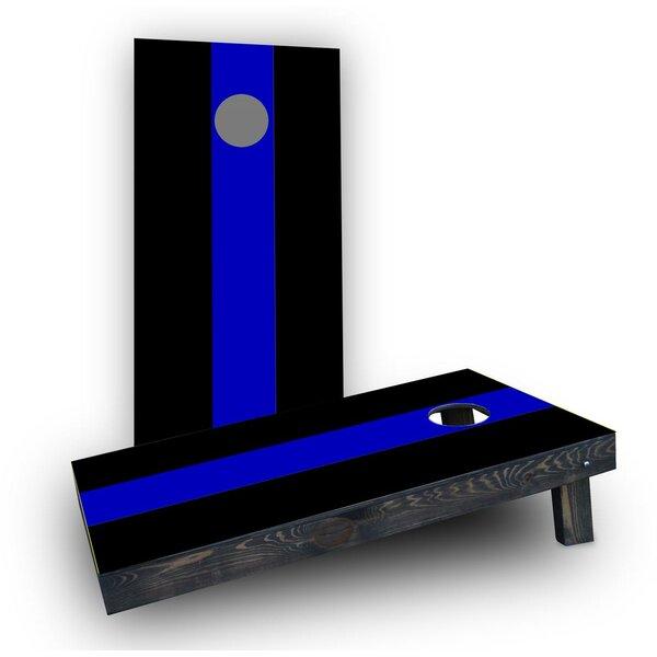 Simple Blue Line Cornhole Boards (Set of 2) by Custom Cornhole Boards