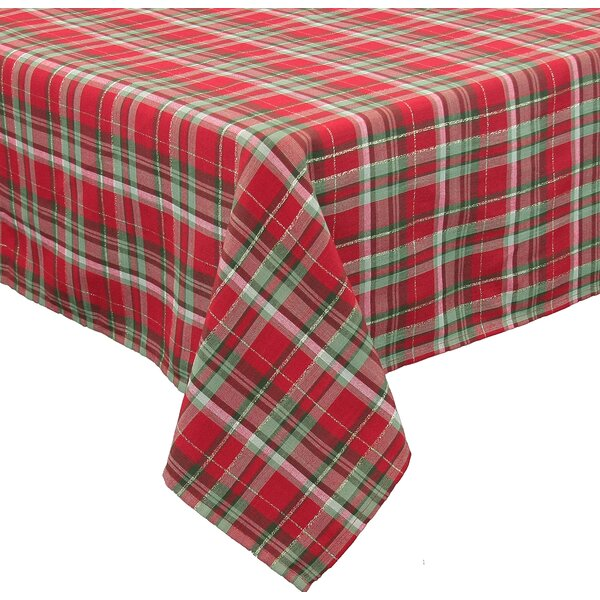Holiday Tartan Christmas Tablecloth by The Holiday