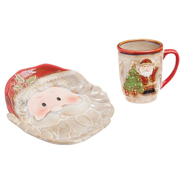 Cookies for Santa Gift 2 Piece Place Setting, Service for 1 by Evergreen Enterprises, Inc