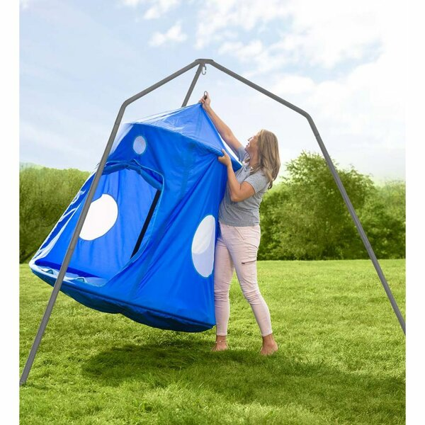 Nylon Family Huggle Pod Special Double Swing Chair With Stand By HearthSong
